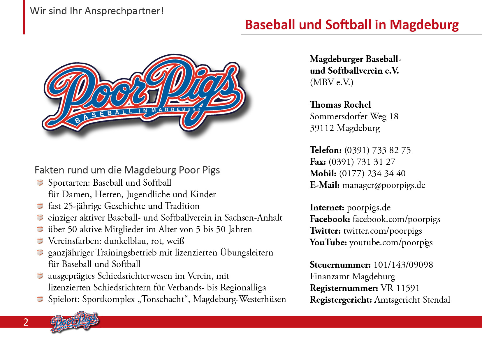 Sponsoren und Partner : poorpigs.de - Baseball und Softball in Magdeburg